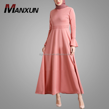 Long Sleeve Beads African Style Muslim Dress Hot Sell Cheap China Wholesale Islamic Clothing