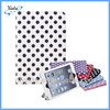 PU Leather Stand White Polka Dot Case For iPad Air