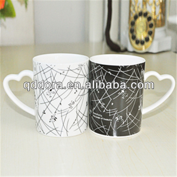 Black white ceramic mugs, ceramic mug cups , ceramic mug and cups