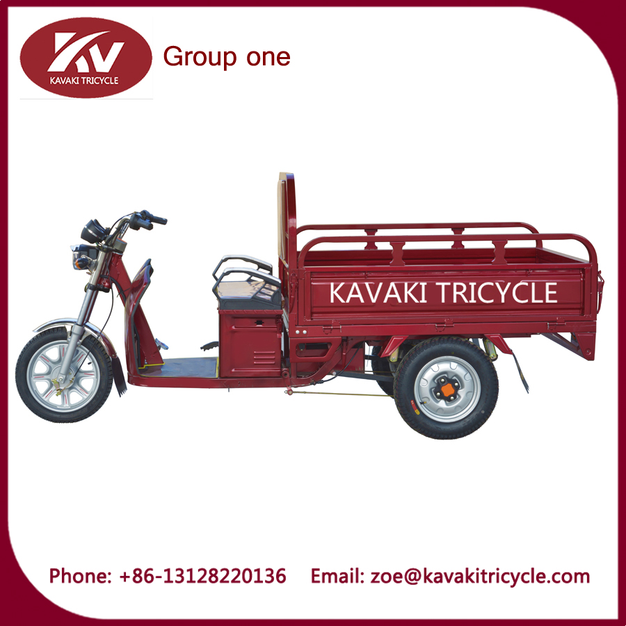 three wheels cargo electric waste collection vehicle