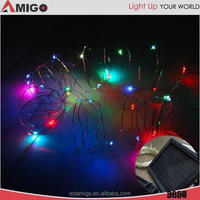 Indoor Decorative flashing and steady changeable led string lights with Supply Power