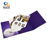 Manufacture Custom A4 Paper File Folder Waterproof Presentation Folder With Business Card Slot