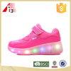 kids led light up roller skate shoes with one wheel