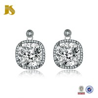 925 CZ Anillos Plata de China Earrings For Women Jewelry