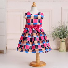 New Children frock model baby girl printed summer dress colorful baby dress for party L1826XZ