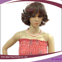 short curly grey hair wigs for women