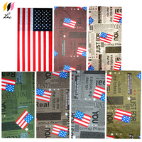 US American Flag Printed Headband Seamless Tubular Multifunctional Bandana For Men