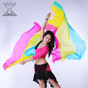 New belly dance silk fans, belly dance silk fan veil