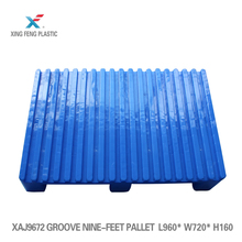 Durable hdpe plastic pallet prices 4-way forklift access pallet dimensions L960*W720*H160mm