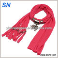 Latest fashion New design elephant pendant scarf, pendant jewelry Scarf
