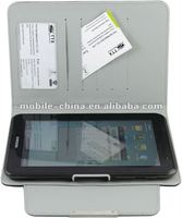 for samsung galaxy tab2 p3100 leather wallet stand Leather Case with magnet switch ,factory outlet price,