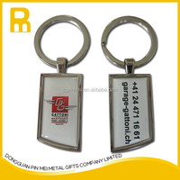 Printing sticker blank keychain/key fob/key tag with 15mm key ring