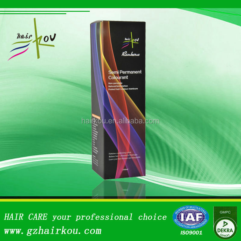 Natural Formulation Non-peroxide Semi Permanent Colourant For Hair Color Cream