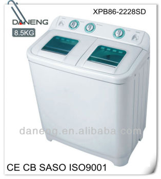 double tub washing machine,wash capacity 8.5kg