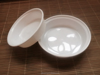 US style round and white dishwashable microwavable plastic food containers with lids