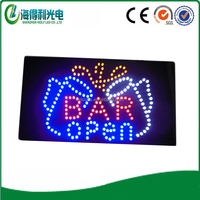 Guangdong LED supplier Animated Bar open led sign