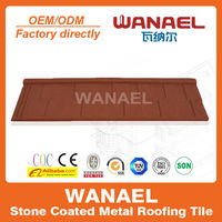 Wanael villa roof tile/stone coated metal roof tile/fiberglass curved roof panel