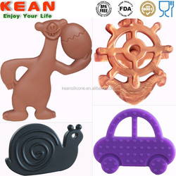 Chewing safe saft silicone baby teether silicone rubber dog toys