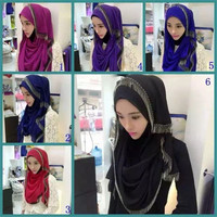 Women Tassel Islamic Hijabs HOT Muslim Shawls Top Quality Fashion Scarves Hijab