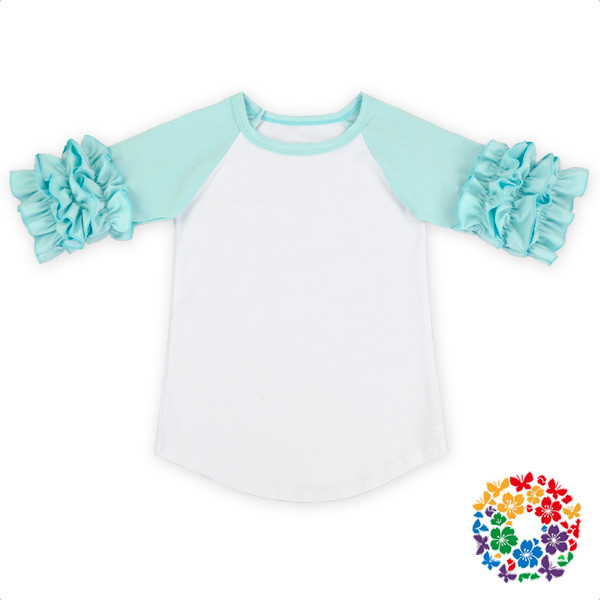 Long Sleeve Baby Cotton Clothes Set Raglan Pattern Ruffle Outfit 2016 Baby Clothes Wholesale