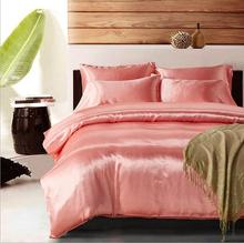 Imitated Silk Yarn-Dyed Bedding Set /flat sheet set comforter