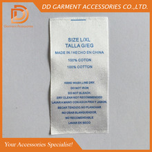 polyester care label materials for garment