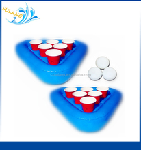 High Performance inflatable beer pong racks set floating pong for pool party