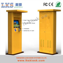 Self-service Payment Kiosk for Car Parking System Outdoor Floor Standing Kiosk