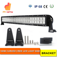 remote control 180w 4x4 Offroad curved led light bar 110v amber off road led light bar waterproof auto curved led bar