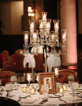 wholesale large wine bottle crystal candelabra for wedding decoration