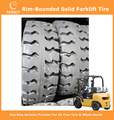 Rim-Bounded Solid Tyres Forklift Tyres 21x8-9/6.00