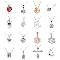 mix styles wholesale jewelry Copper inlay zircon crystal pendant necklace multicolor election gentle angel