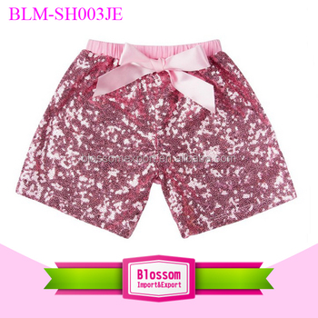 Wholesale children sequin shorts baby sparkling shorts summer fashion baby girl shiny sequin shorts