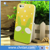 2014 New arrival cartoon pattern style for iphone cell phone plastic cover with night light silicone