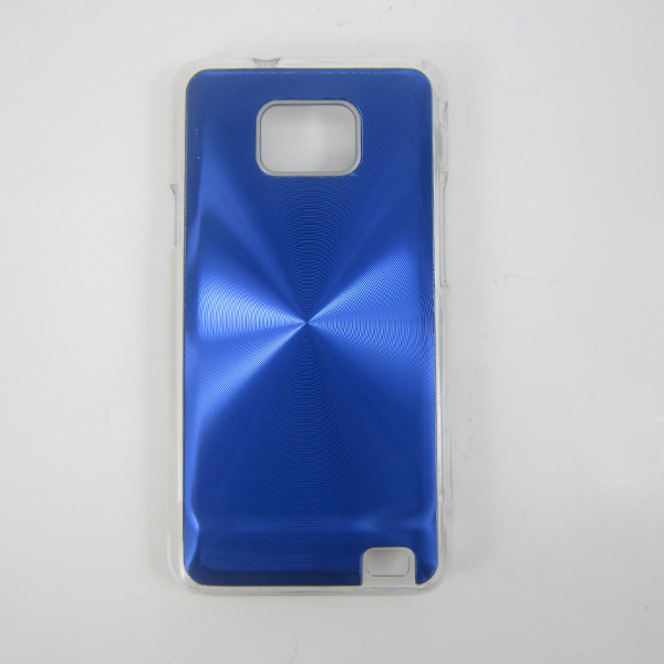 CD pattern mobile phone case transparent bottom phone shell stick aluminum back cover for Samsung i9100