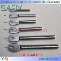 316L/A4 304/A2 Stainless Steel Flat Head Eye Bolt/Stone Cladding accessories for Marble Fixing System