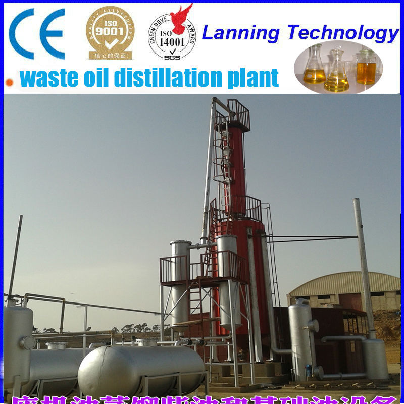 newest design Distill pyrolysis fuel oil/waste engine oil to base oil plant