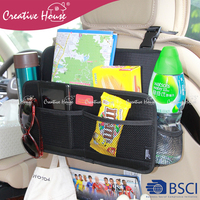 Interior Accessories Back Drinks Holder Multi-functional Nylon Travel Storage Bag Hanger Car Seat Back Organizer