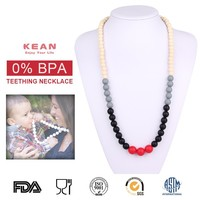 Custom Style Non-toxic Teething Silicone Plastic Chain Necklace