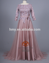 2014 Zuhair Murad Spring Summer New Arrival Prom Gown Sheer Boat Neck Lace Applique Long Evening Dresses HMY-D184 More Colors