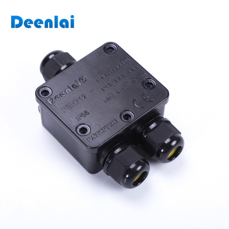 3 Way IP68 Outdoor Electronic Plastic Top Quality Waterproof Junction Box