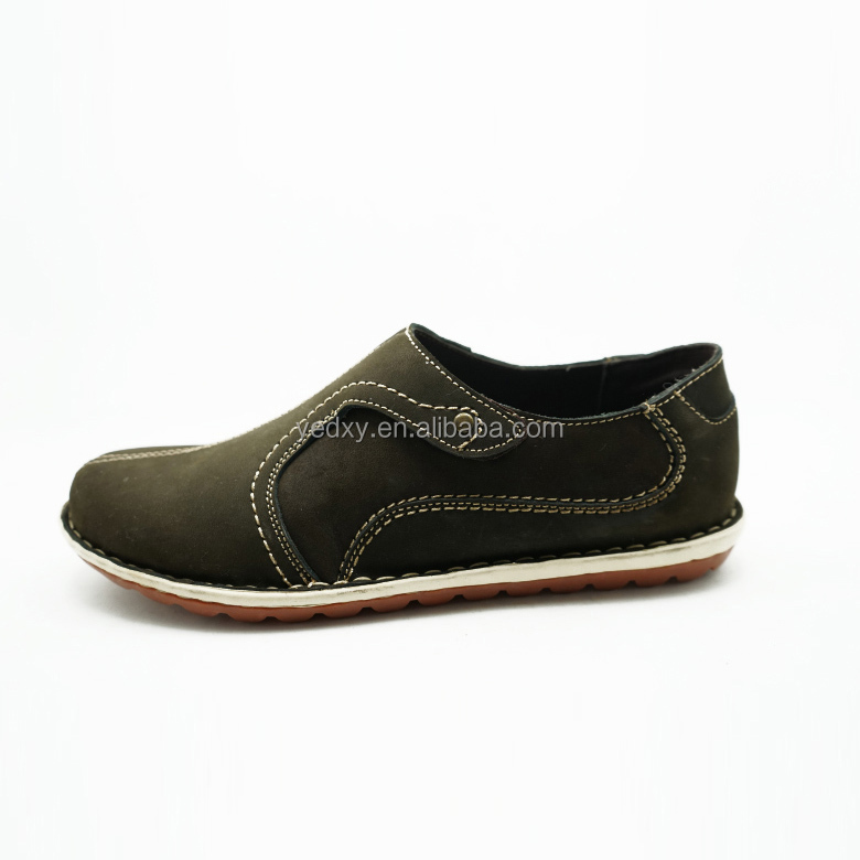 buckle strap easy wear comfortable flat sole leather upper childrens genuine leather casual shoes