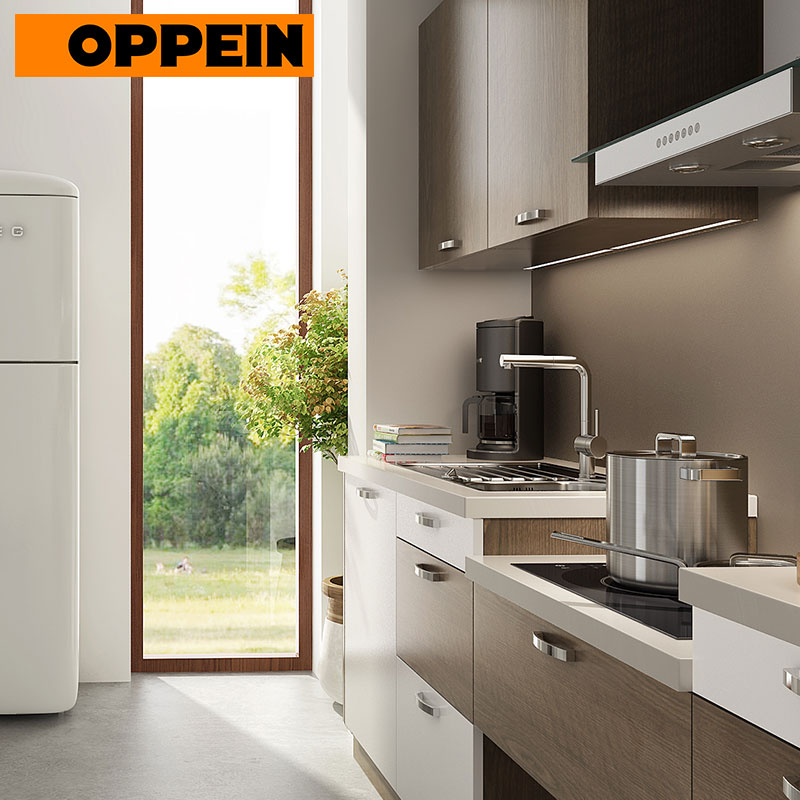 Oppein Melamine Board Carcase Material Wall Cabinets Wood Grain