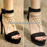 Glitter Beaded Fashion Toe Chain