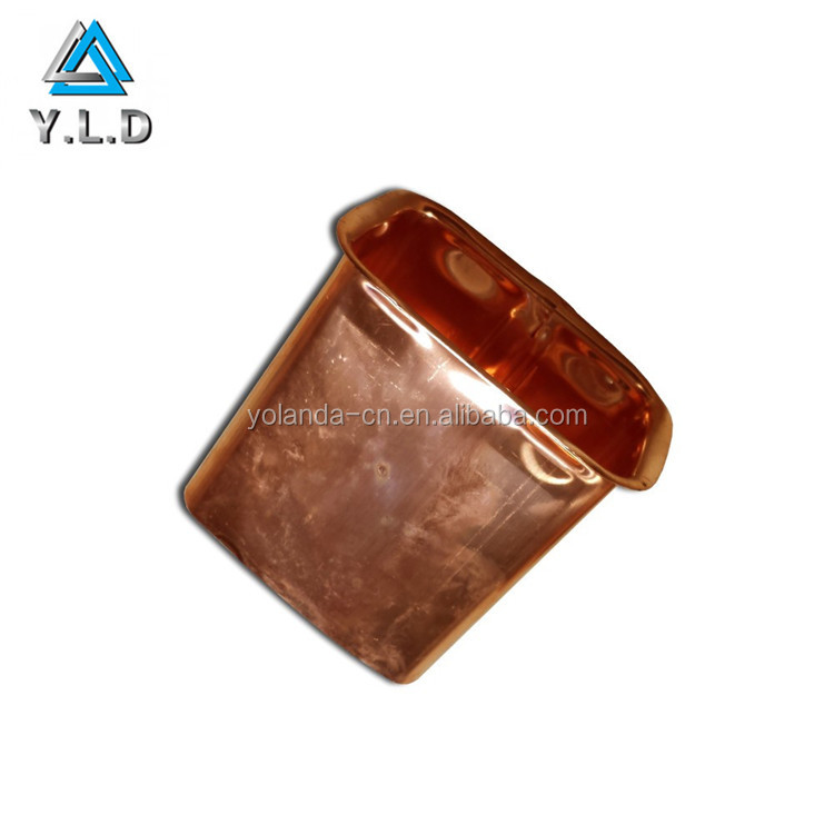 High-end Quality Sheet Metal Fabrication Custom Polishing Copper Deep Drawing Container