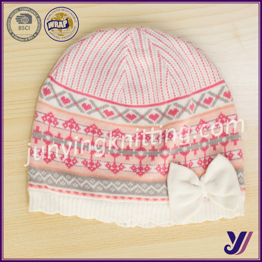 100% Acrylic Crocheted knitted baby beanie hats and caps wholesale china manufacturer