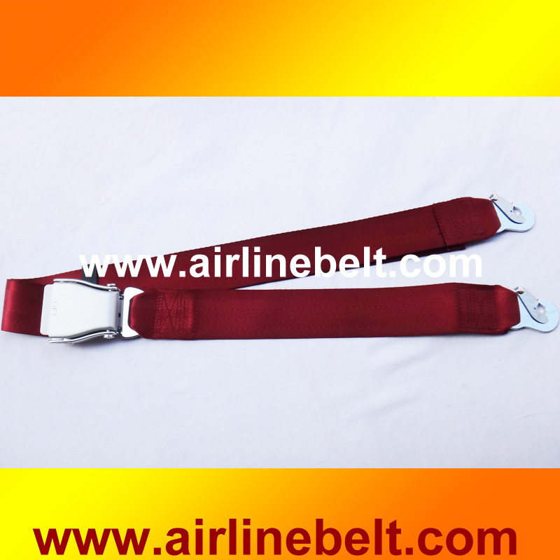 Two points universal aircraft safety belts
