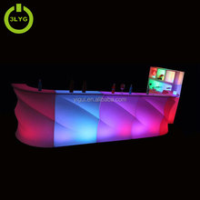 Chinese colorful wedding mesas table nightclub illuminated furniture plastic led bar counter