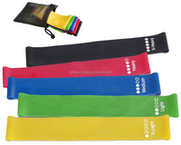 One set including 5pcs latex loop resistance band customized logo printing
