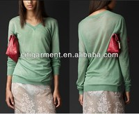 Women Oversize Cashmere Silk Sweater